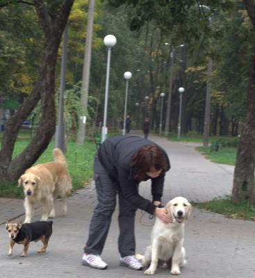 Моя первая прогулка с новым другом, Ириной.