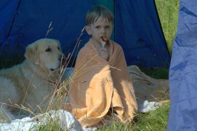 Лучик внутри палатки. Тут было сложнее. Столько вкусных запахов!...