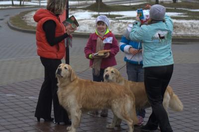 Питомник и наши друзья, представители Шведской компании HUSS, отметили первые шаги юных хэндлеров памятными медалями и средствами по уходу за собакой.