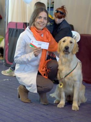 Поздравляем ее хозяйку Петренко Ольгу с первым сертификатом ее питомицы!
