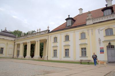 Колоннада между главным зданием и флигелем.