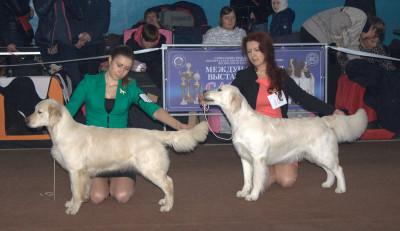 Слева направо: KANTRI GOLD SHARADA RUS (Россия),  Глосси Чик (Беларусь)